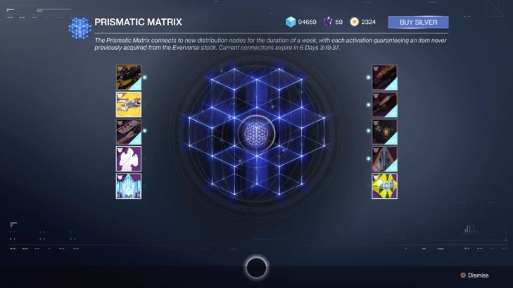 destiny 2 eververse prismatic matrix
