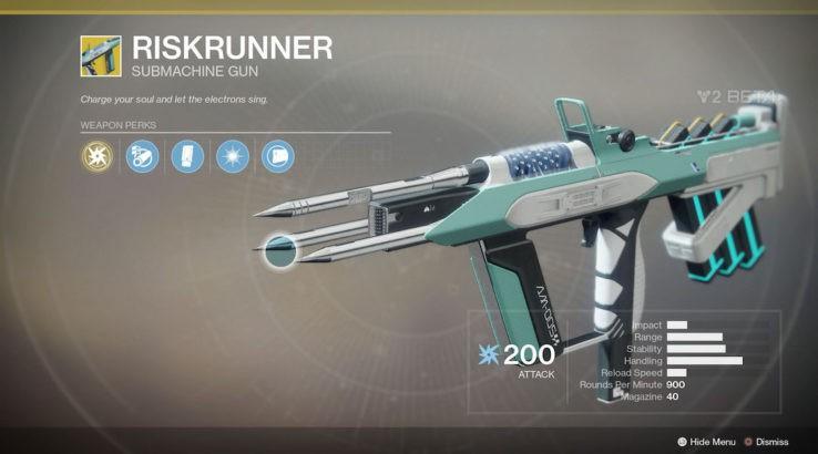 destiny 2 riskrunner exotic
